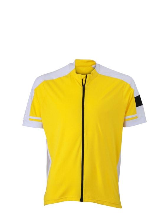 Pánský cyklistický dres JN454 - Slunečně žlutá | S
