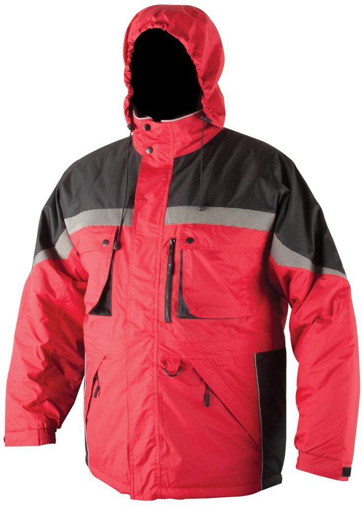 Zimní pracovní bunda Milton - Červená | XXXXL