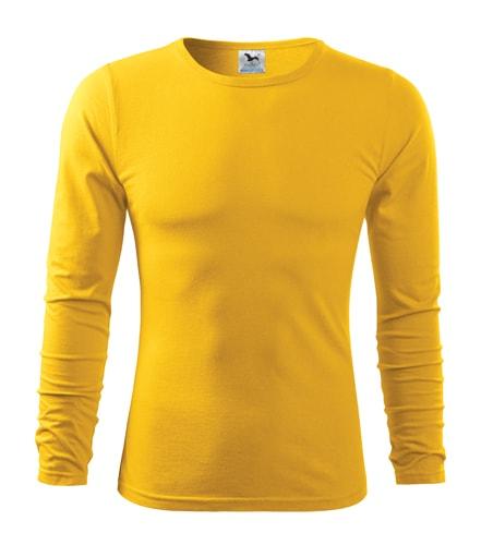 Pánské tričko s dlouhým rukávem Fit-T Long Sleeve - Žlutá | S