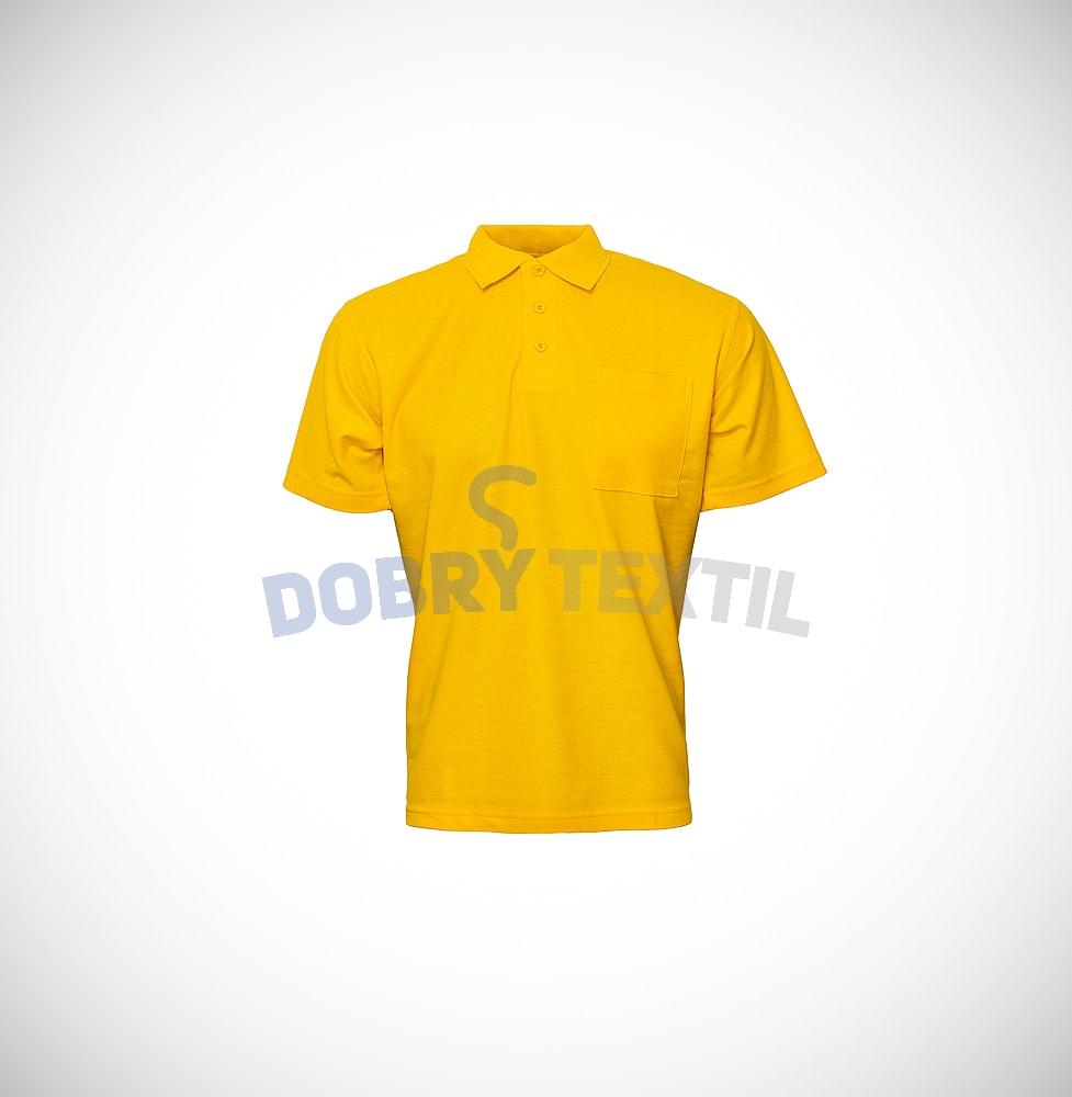 Pique pánská polokošile s kapsičkou - Žlutá   XXXL