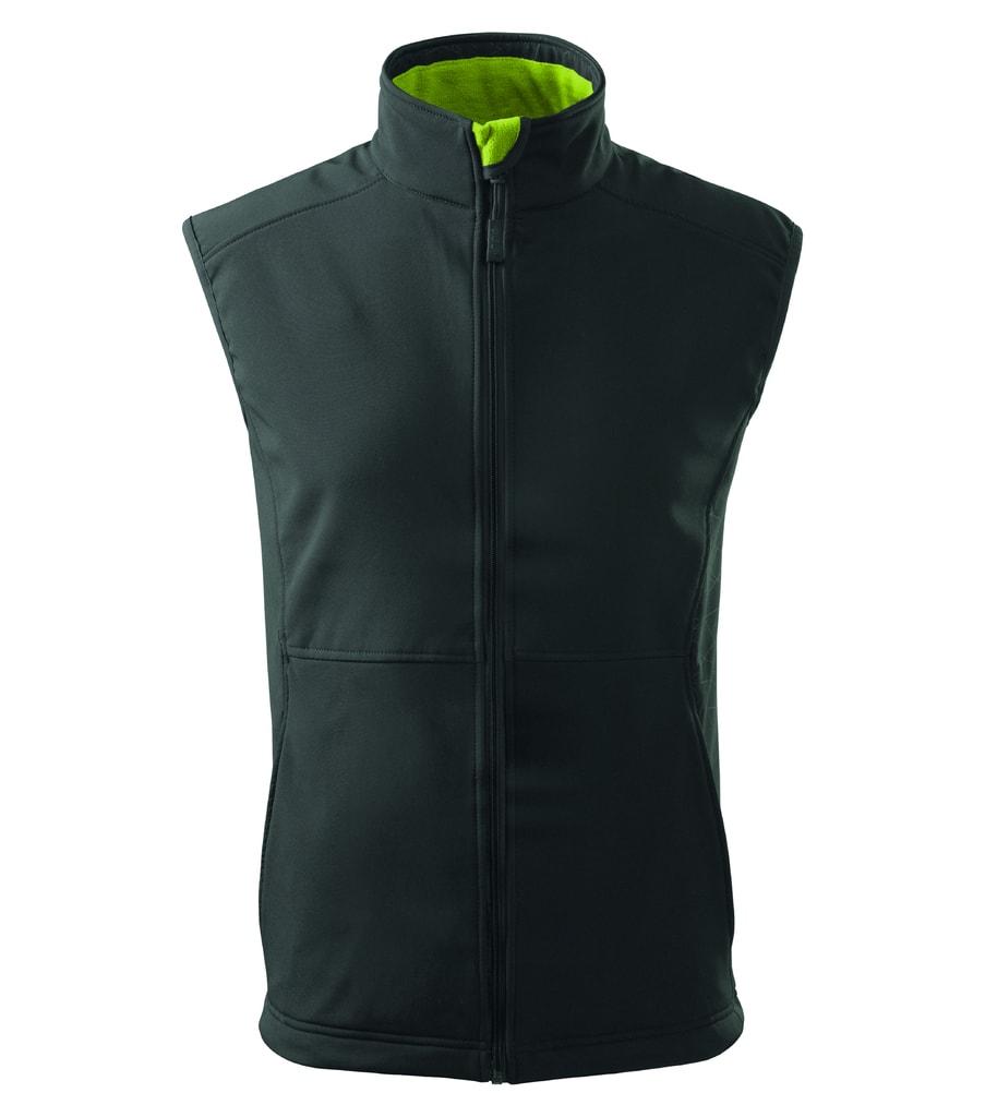 Pánská softshellová vesta Vision - Ocelově šedá | XXXL
