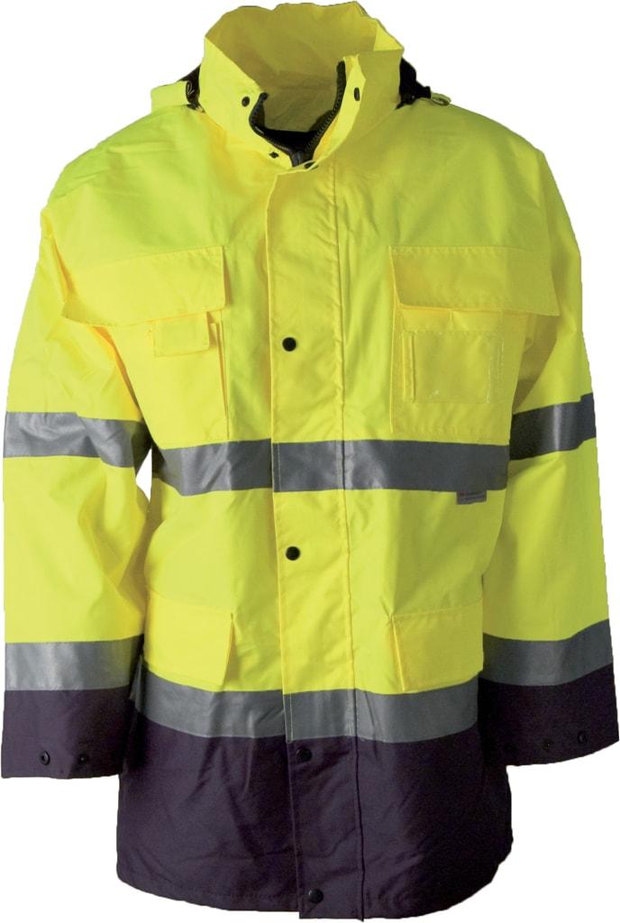 Reflexní pracovní bunda s kapucí Maxwell - Žlutá | XXXL