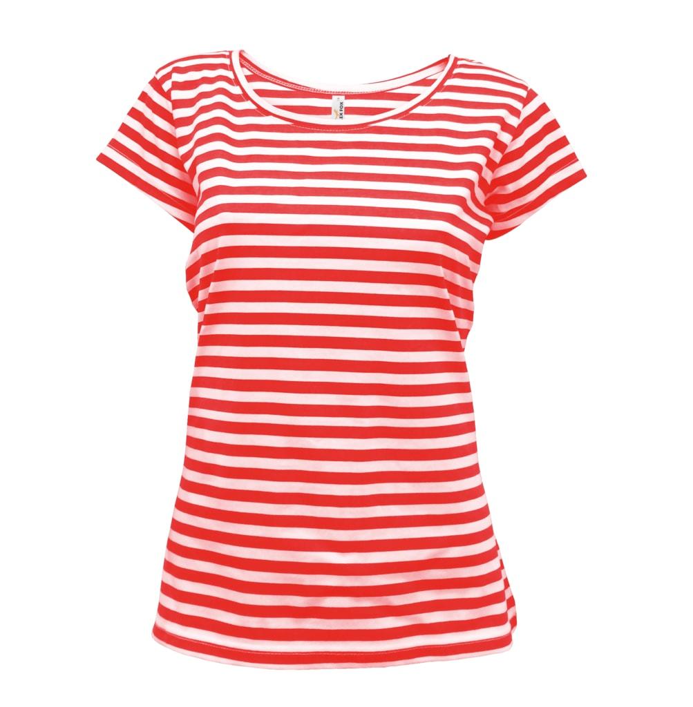 Dámské námořnické tričko - Červená | XL