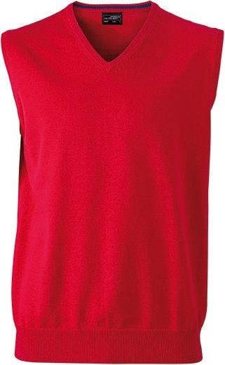 Pánský svetr bez rukávů JN657 - Červená | XXL