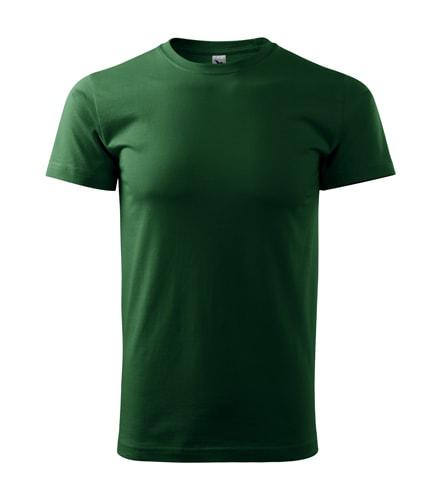 Pánské tričko HEAVY - Lahvově zelená | XXL