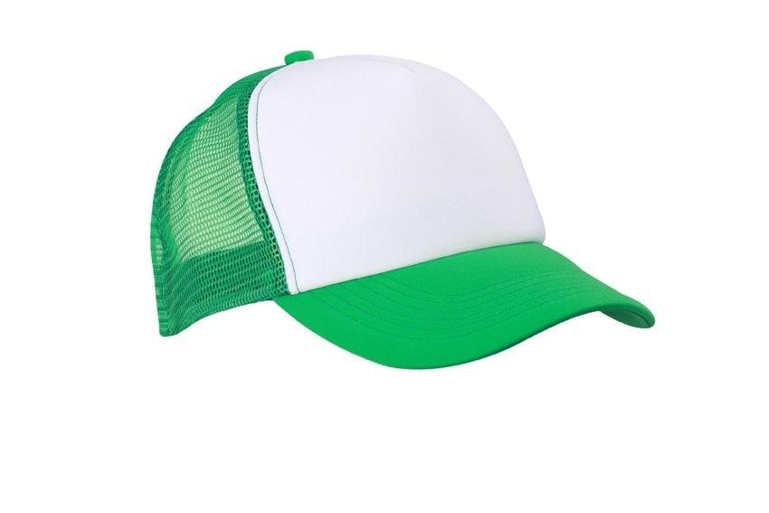 5 panelová kšiltovka MB070 - Bílá / kapradinově zelená | uni
