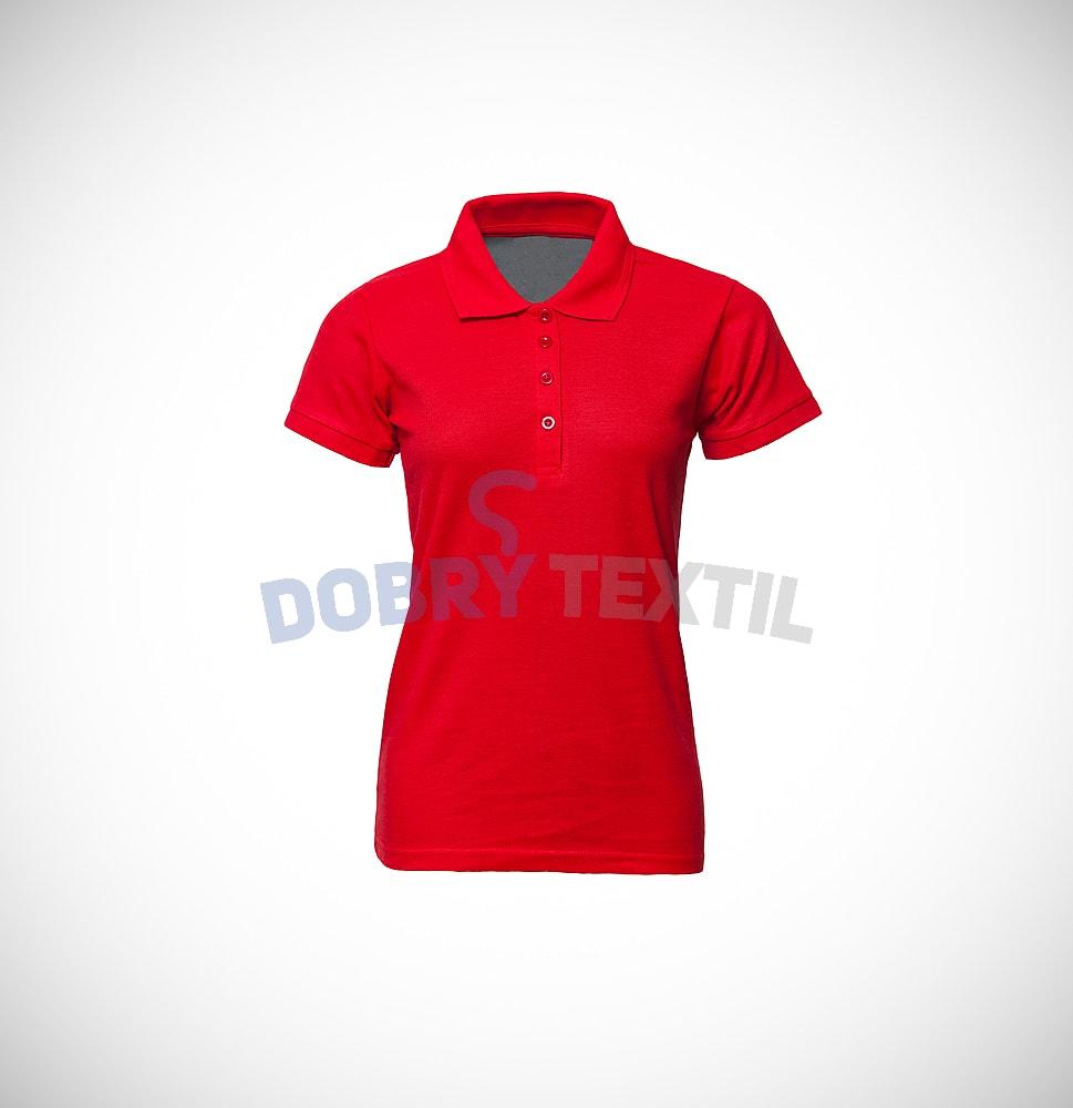 Pique dámská polokošile s kapsičkou - Červená | L