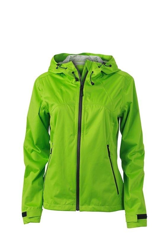Dámská softshellová bunda s kapucí JN1097 - Jarně zelená / šedá | XXL