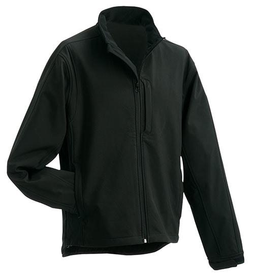 Pánská softshellová bunda JN135 - Černá | XXXL