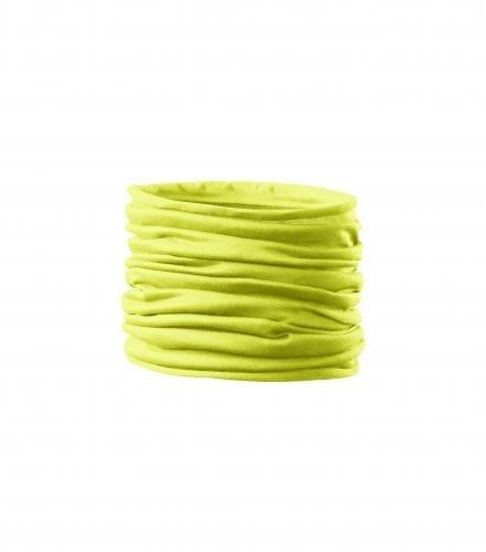 Multifunkční šátek Twister - Neonově žlutá | uni