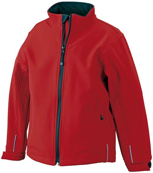 Dětská softshellová bunda JN135k - Červená | M