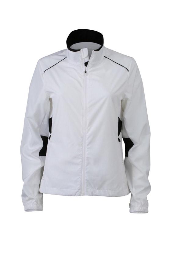 Dámská běžecká bunda JN475 - Bílá / černá | XS