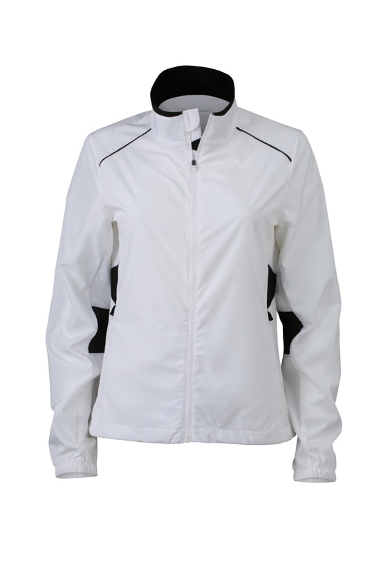 Dámská běžecká bunda JN475 - Bílá / černá | M