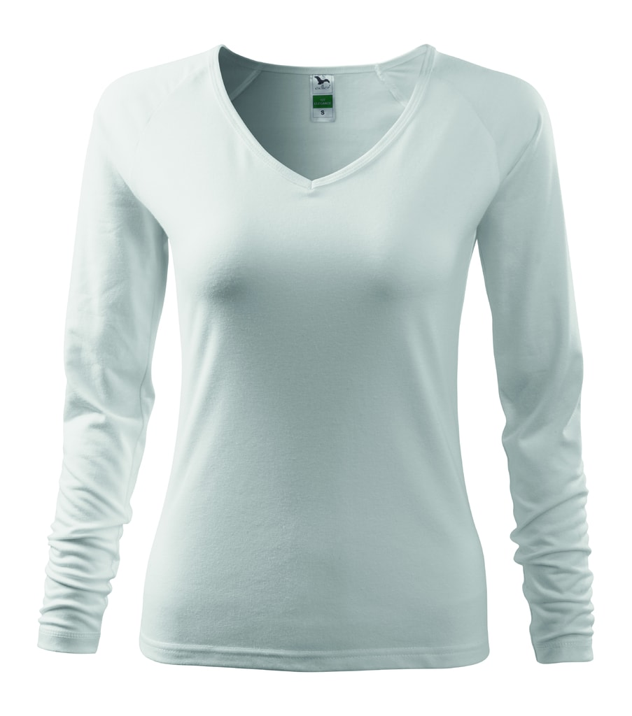 Dámské tričko s dlouhým rukávem - Bílá | XS