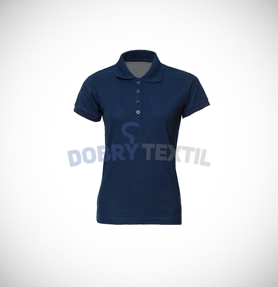 Pique dámská polokošile s kapsičkou - Tmavě modrá | L