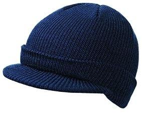 Zimní čepice s kšiltem MB7530 - Tmavě modrá | uni