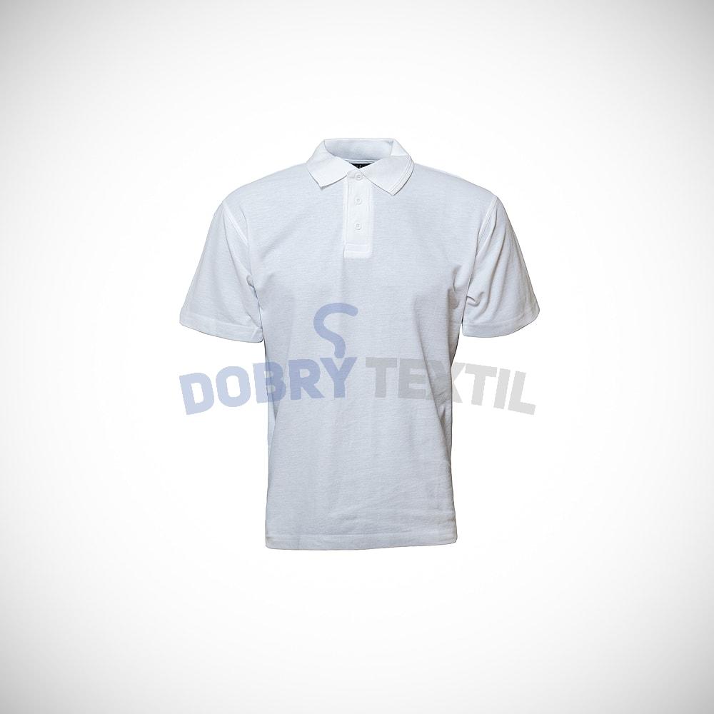 Pique pánská polokošile - Bílá | XXXL