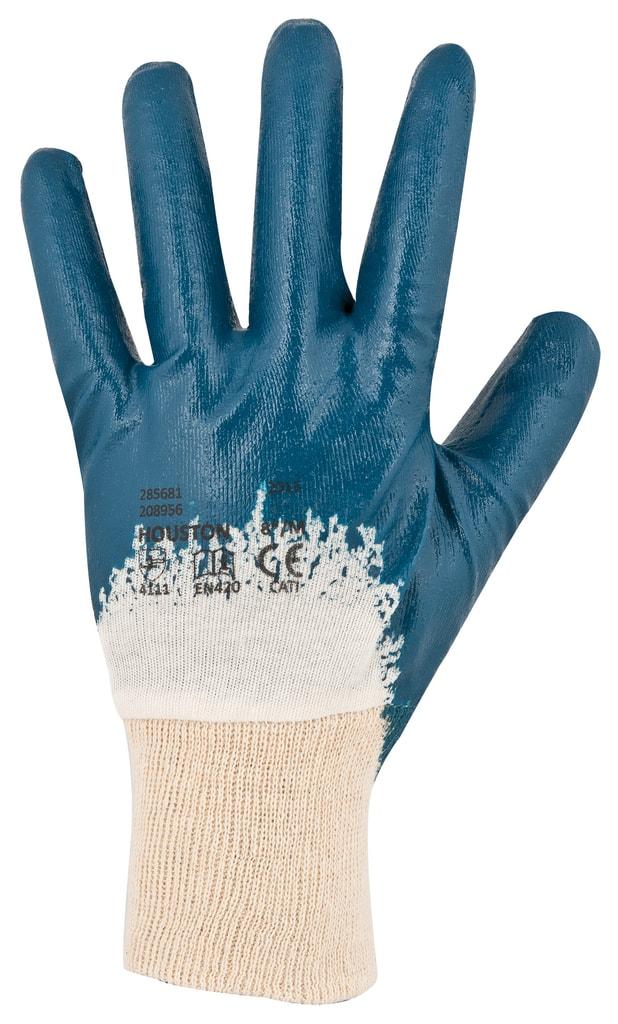 Pracovní rukavice Houston - Modrá   10