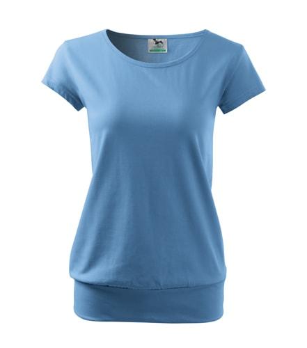 Dámské tričko City - Nebesky modrá | M