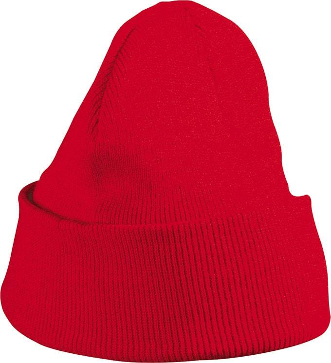 Pletená zimní dětská čepice MB7501 - Červená | uni dětská