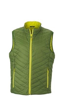 Lehká pánská oboustranná vesta JN1090 - Zelená / žlutozelená | S