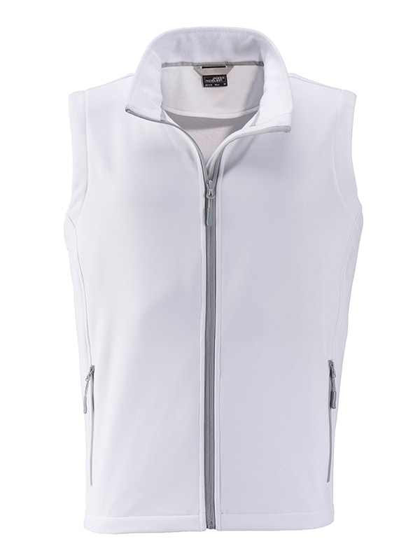 Pánská softshellová vesta JN1128 - Bílá / bílá | XXL