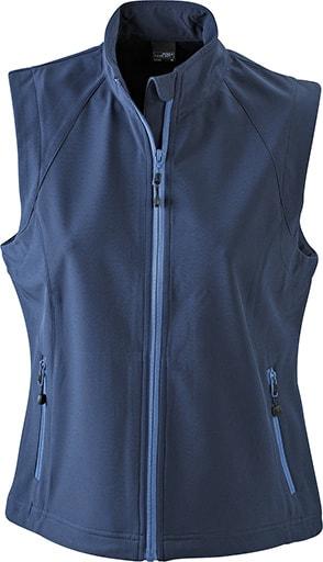 Dámská softshellová vesta JN1023 - Tmavě modrá   L