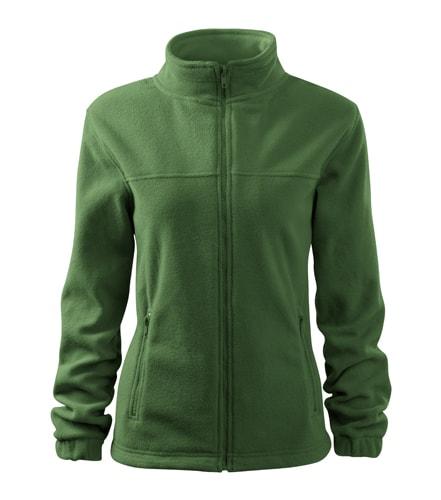 Dámská fleecová mikina Jacket - Lahvově zelená | XS
