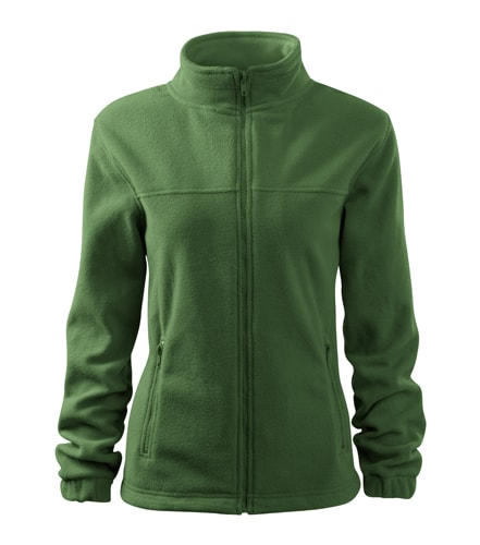 Dámská fleecová mikina Jacket - Lahvově zelená | XXL