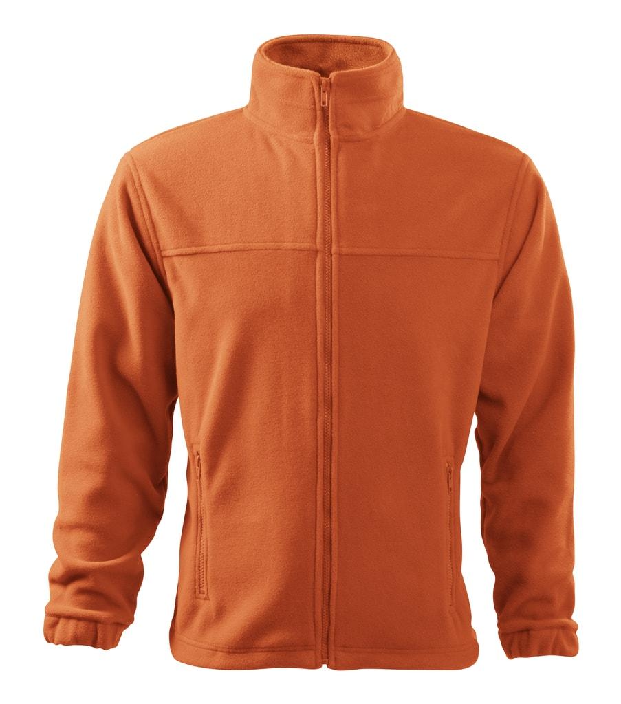 Pánská fleecová mikina Jacket - Oranžová | L