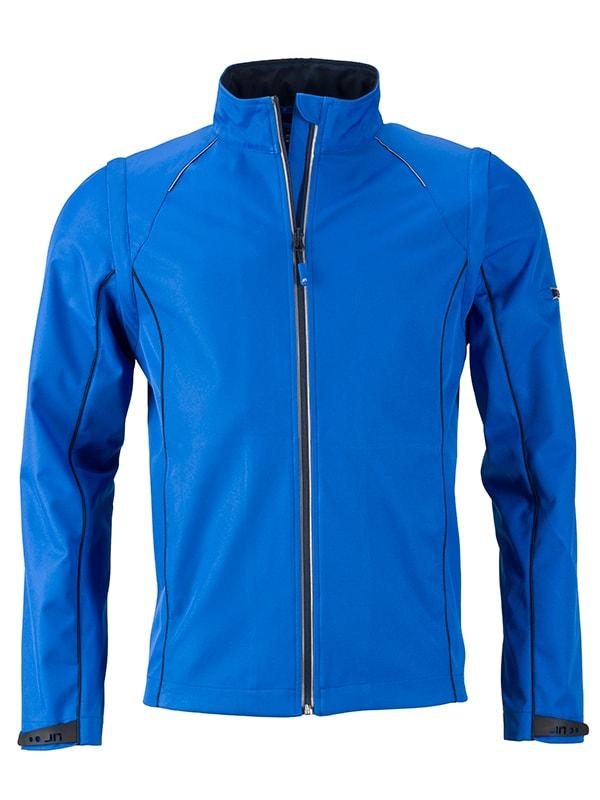 Pánská softshellová bunda 2v1 JN1122 - Světle modrá / tmavě modrá | L