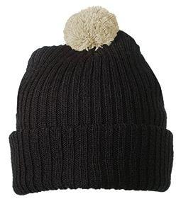 Pletená čepice s bambulí MB7540 - Tmavě hnědá / khaki | uni