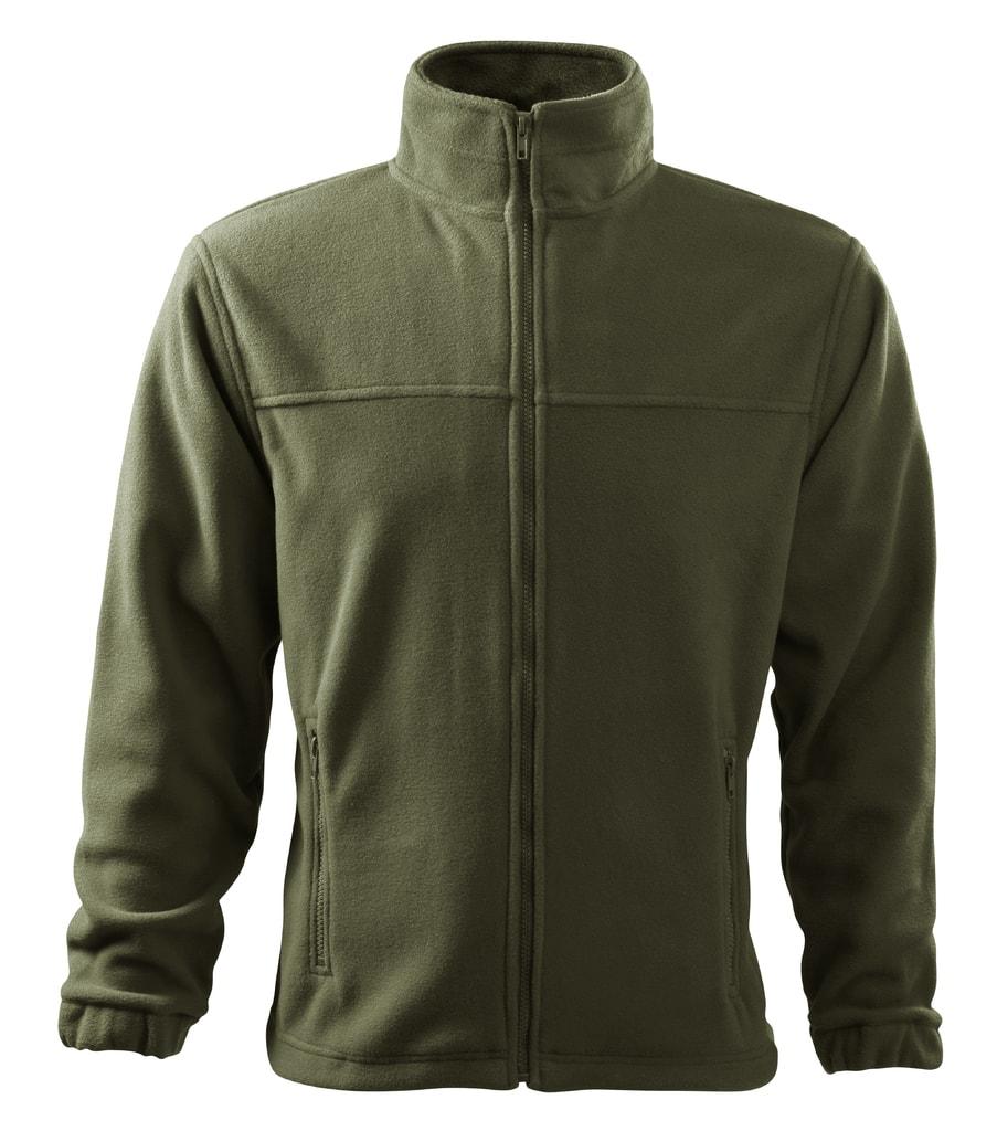 Pánská fleecová mikina Jacket - Military | XXXL