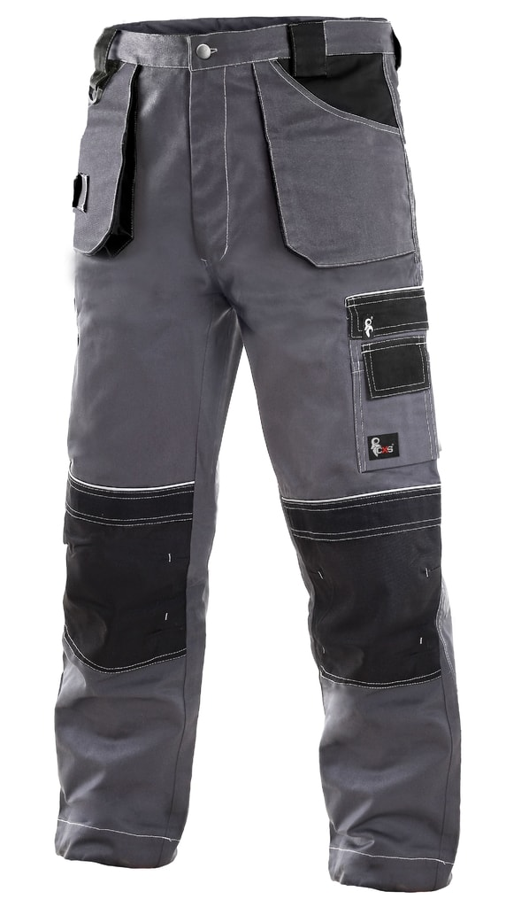 Montérkové kalhoty ORION TEODOR - Šedá / černá | 64
