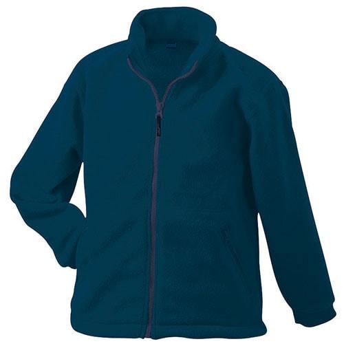 Dětská fleece mikina JN044k - Tmavě modrá | XL