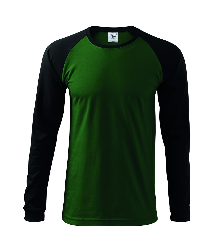 ... Pánské tričko s dlouhým rukávem Street LS Lahvově zelená ac0b967eda
