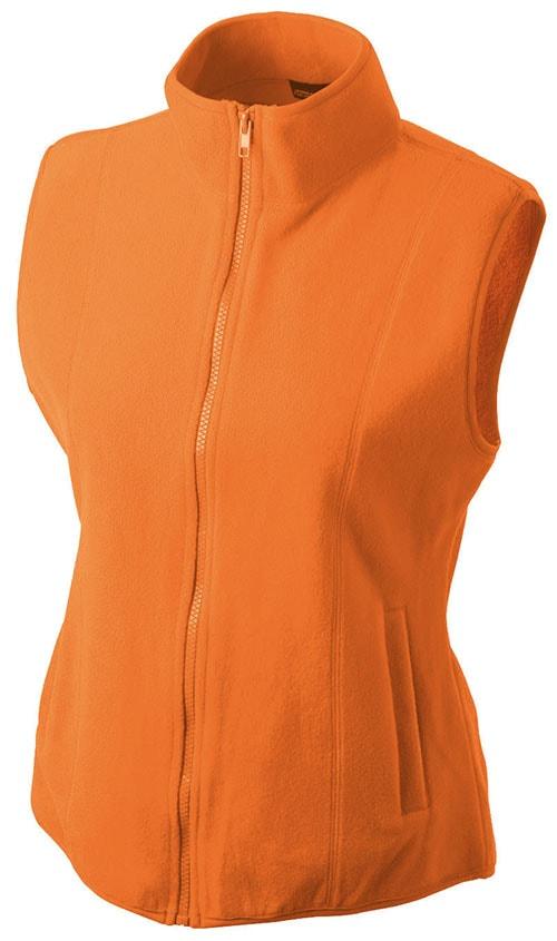 Dámská fleecová vesta JN048 - Oranžová | S