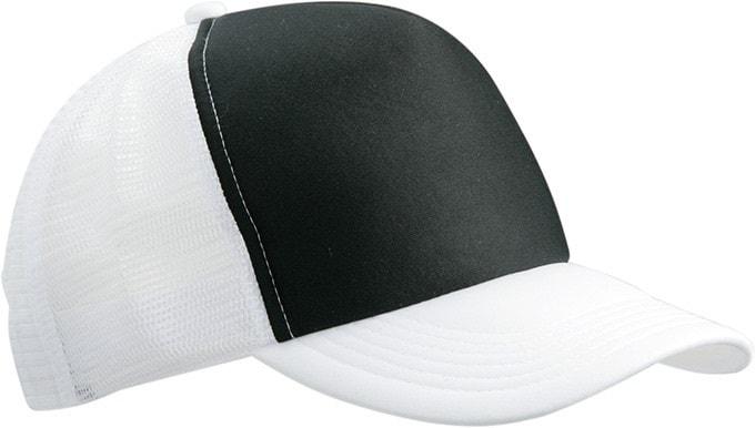 5 panelová kšiltovka MB070 - Černá / bílá | uni