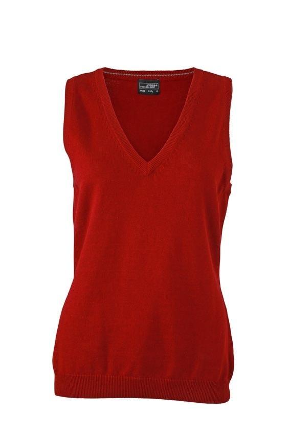 Dámský svetr bez rukávů JN656 - Bordeaux | XXL
