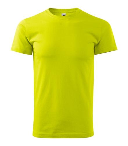Pánské tričko HEAVY - Limetková | XXXL