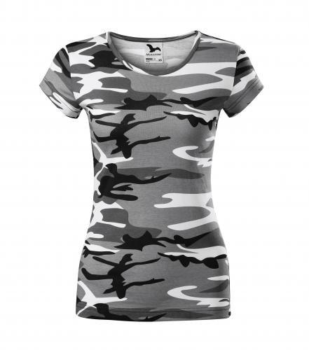 Dámské tričko Pure - Maskáčová šedá | XS