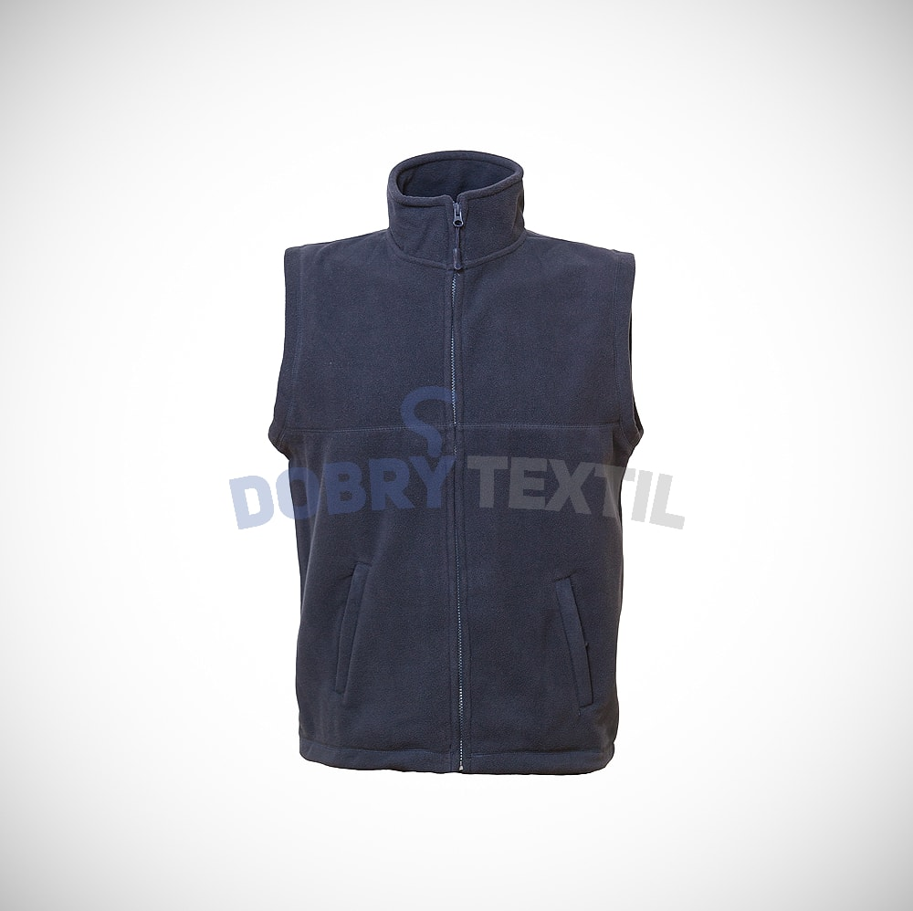 Fleecová vesta - Tmavě modrá | XXXL