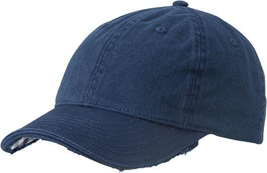 Bavlněná kšiltovka Club MB6568 - Tmavě modrá / bílá | uni