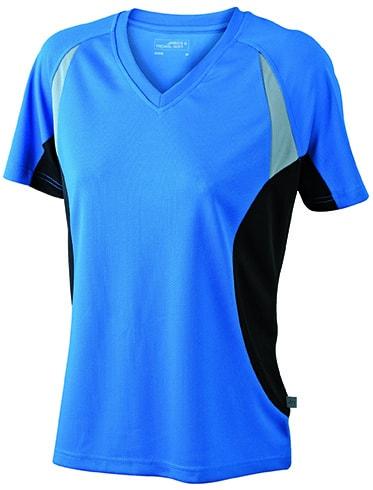 Dámské funkční tričko s krátkým rukávem JN390 - Královská modrá / černá | M