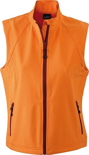 Dámská softshellová vesta JN1023 - Oranžová   L