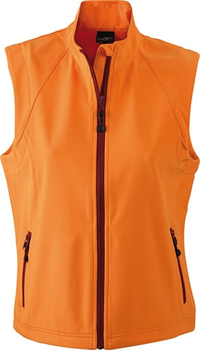 Dámská softshellová vesta JN1023 - Oranžová | M