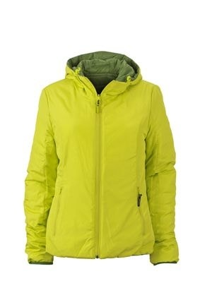 Lehká dámská oboustranná bunda JN1091 - Zelená / žlutozelená | L
