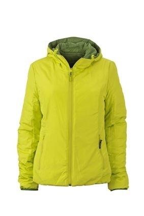 Lehká dámská oboustranná bunda JN1091 - Zelená / žlutozelená | XXL