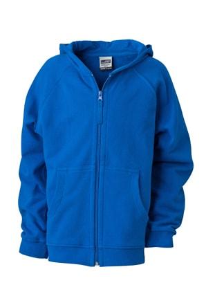 James   Nicholson Detská mikina na zips s kapucňou JN059k - Královská modrá   33ee705762c