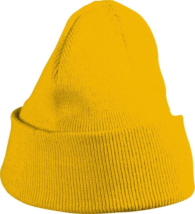Pletená zimní dětská čepice MB7501 - Zlatě žlutá | uni dětská